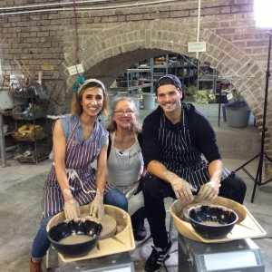 pottery class for Strictly Come Dancing